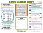 Super Shabbos Sheet - Tzav 13 Adar II 5774
